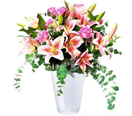 Fresh Happiness: roses and lilies, £59