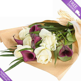 Purple Callas and Roses, £24.99