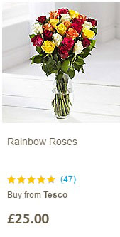 View customer ratings for each bouquet.
